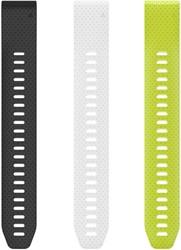 Garmin QuickFit 20mm Polsbanden wit, zwart en knalgeel siliconen (Large)