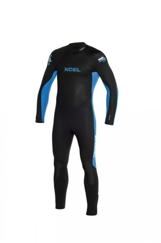 Xcel Mens Hydroflex 5/4/mm fullsuit bk/blue kind 10 jaar