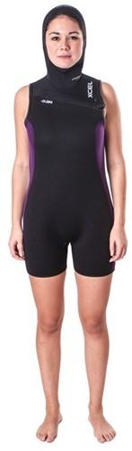 Xcel Womens Thermoflex Vest 6/5/4mm bk/purple maat 10