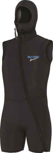 Bare 7mm Step-In S-Flex Hooded Vest Black Men XLS