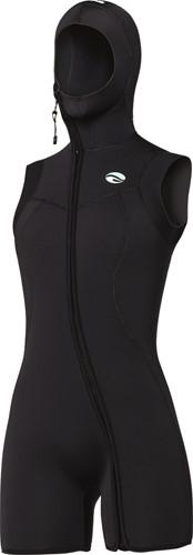 Bare 7mm Step-In S-Flex Hooded Vest Black Women 06