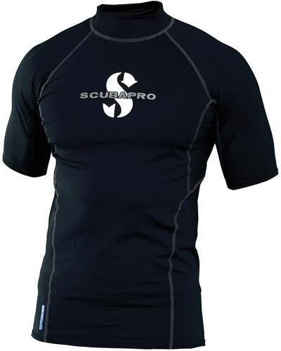 Scubapro Rashguard Black T-Flex Man UPF80 Short Sleeve