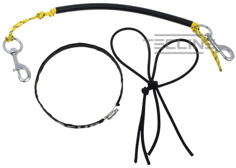 Tecline Stage rigging kit for 5,7L, 120 mm, brass bolt snap, bungee cord