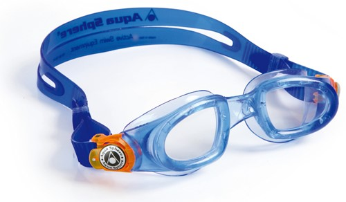 Aquasphere zwembril Moby Kid Clear Lens Blue/Orange