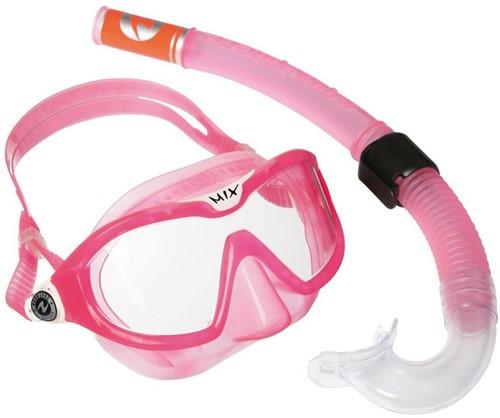 Aqualung Reef DX 2 Clear Lens + Snorkel Pink
