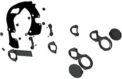 Ocean Reef Extender Kit ,( Include :Mha-2 Headset Adapter; Side Supports; New Nacs Green