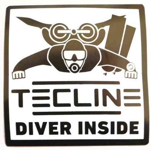 Tecline Sticker Diver Inside - 10x10cm (Zwart)