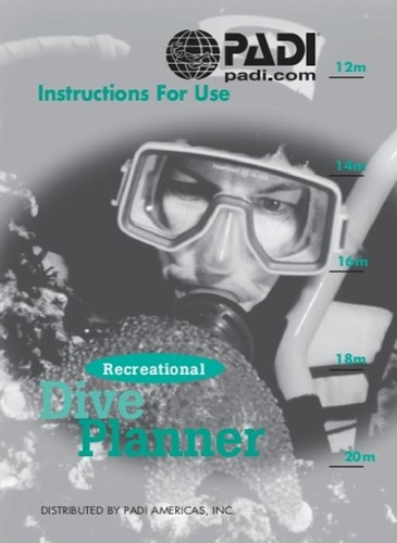 PADI Booklet - RDP Instructions for Use, Metric (Dutch)