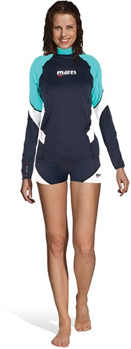 Mares Rash Guard Loose Fit L/S She Dives Aq Xxs