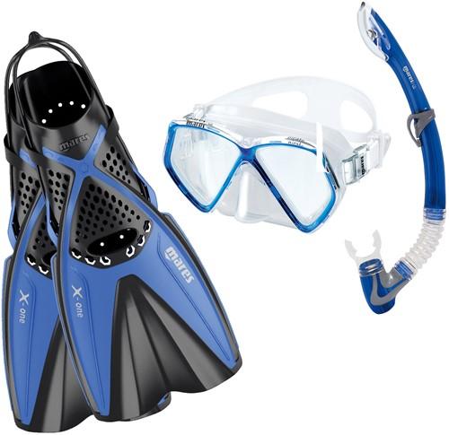 Mares Snorkelset X-One Pirate Blauw (Vin Maat 24-29)