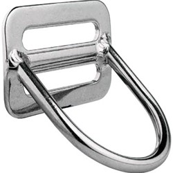 Rvs Heavy Duty D-Ring    45°
