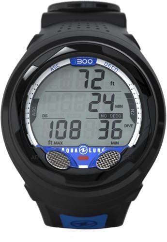 Aqualung duikcomputer i300 Black/Blue