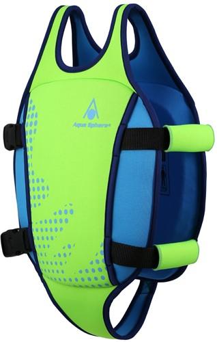 Aquasphere Swim Vest Fluo Green/Light Blue 3-6Y