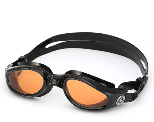Aquasphere Kaiman Amber Lens Black