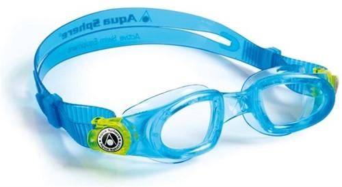 Aquasphere Moby Kid Clear Lens Aqua/Lime Zwembril