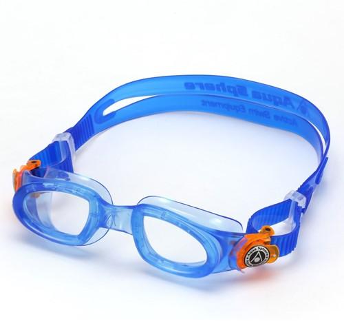 Aquasphere Moby Kid Clear Lens Blue/Orange Zwembril