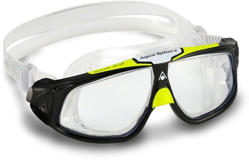 Aquasphere Seal 2.0 Clear Lens Black/Bright Green Zwembril