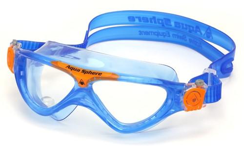 Aquasphere Vista Junior Clear Lens Blue/Orange Zwembril