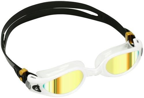 Aquasphere Kaiman EXO Gold Titanium Mirrored Lens White/Clear