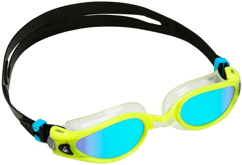 Aquasphere Kaiman EXO Blue Titanium Mirrored Lens Yellow/Clear