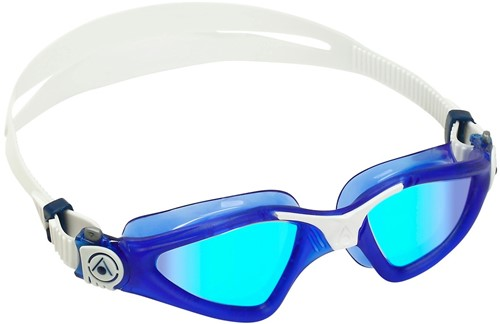 Aquasphere Kayenne Blue Titanium Mirrored Lens Dark Blue/White