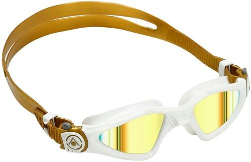 Aquasphere Kayenne Small Gold Titanium Mirrored Lens White/Gold Zwembril