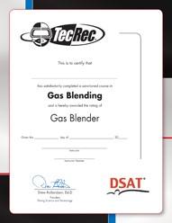 PADI Certificate - Gas Blender