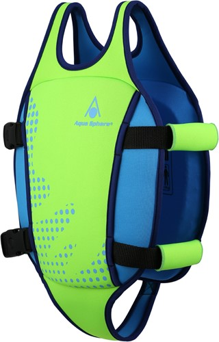 Aquasphere Swim Vest Fluo Green/Light Blue 2-3Y