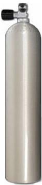 Aluminium Duikfles 5,7 Liter Enkel 200 Bar