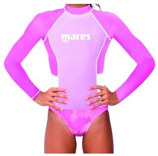 Mares Rash Guard Junior L/S Girl L  Pk