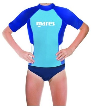 Mares Rash Guard S/S Junior Boy M  Bl