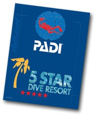 PADI Decal - 5 Star Resort, 35.5cm x 46cm