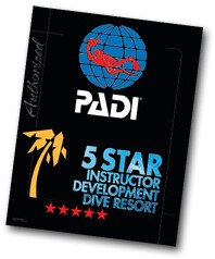 PADI Decal - 5 Star Instructor Dev. Resort, 35.5cm x 46cm