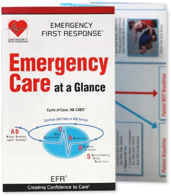 PADI Reference Card - EFR Emergency Care at a Glance (Korean)