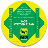 PADI Cylinder Decal - Up to 40% O2