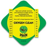 PADI Cylinder Decal - O2 Clean
