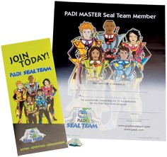 PADI Recognition Kit - PADI Master Seal Team with Application