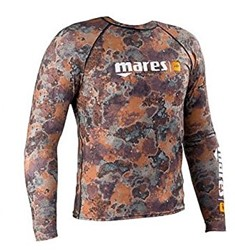 Mares Top Rashguard Camo Brown