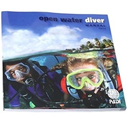 PADI Open Water manual with computer