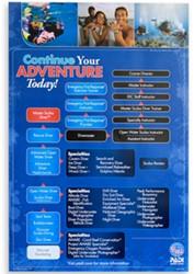 PADI Poster - Diving Adventure Wall Chart, 76cm x 50cm