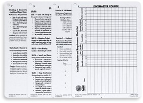 PADI Cue Cards - Instructor for Divemaster Course (German)