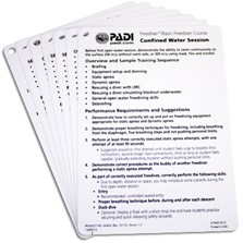 PADI Cue Cards - Freediver