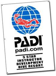 PADI Flag - 5 Star Instructor Dev. Dive Resort, 1m x 1.5m