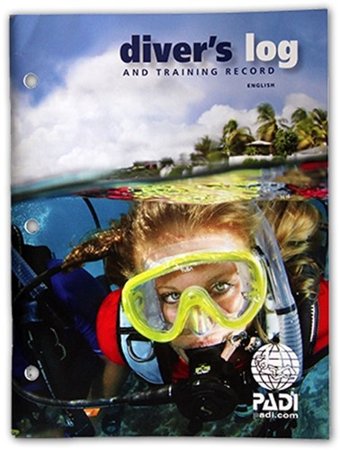 PADI Logbook - Diver's Log and Training Record,Blue(Japanese)