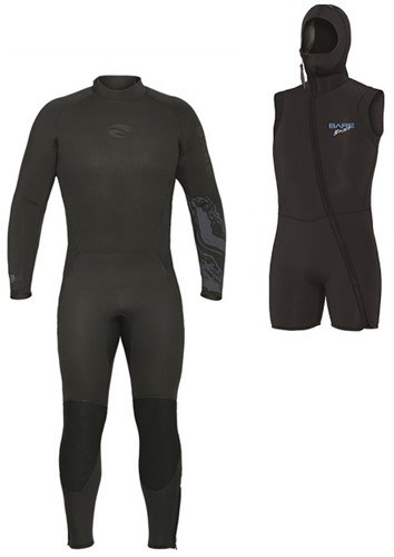 Bare 7mm Velocity wetsuit with hooded vest