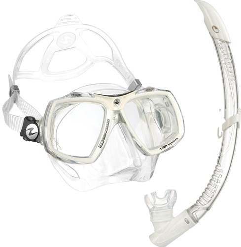 Aqualung Set Look 2 + PV Snorkel White Arctic  (Blister)