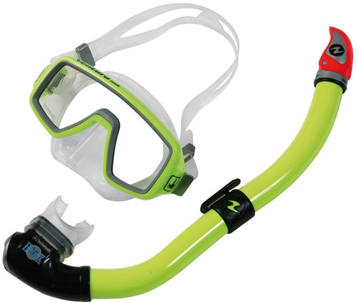 Aqualung Ventura Midi TS + Snorkel P/V geel