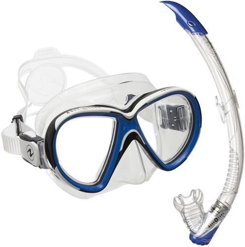 Aqualung Set Reveal X2 TS Blue + Zephyr Transparant/Blue