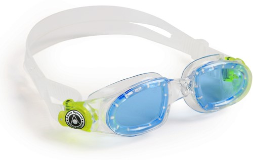 Aquasphere zwembril Moby Kid Blue Lens Clear/Lime
