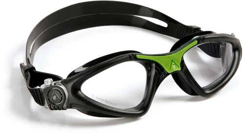 Aquasphere zwembril Kayenne Clear Lens Black/Green